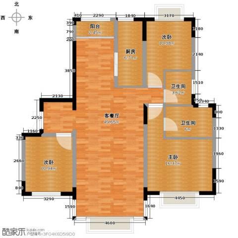 天安第一城3室2厅2卫0厨119.28㎡户型图