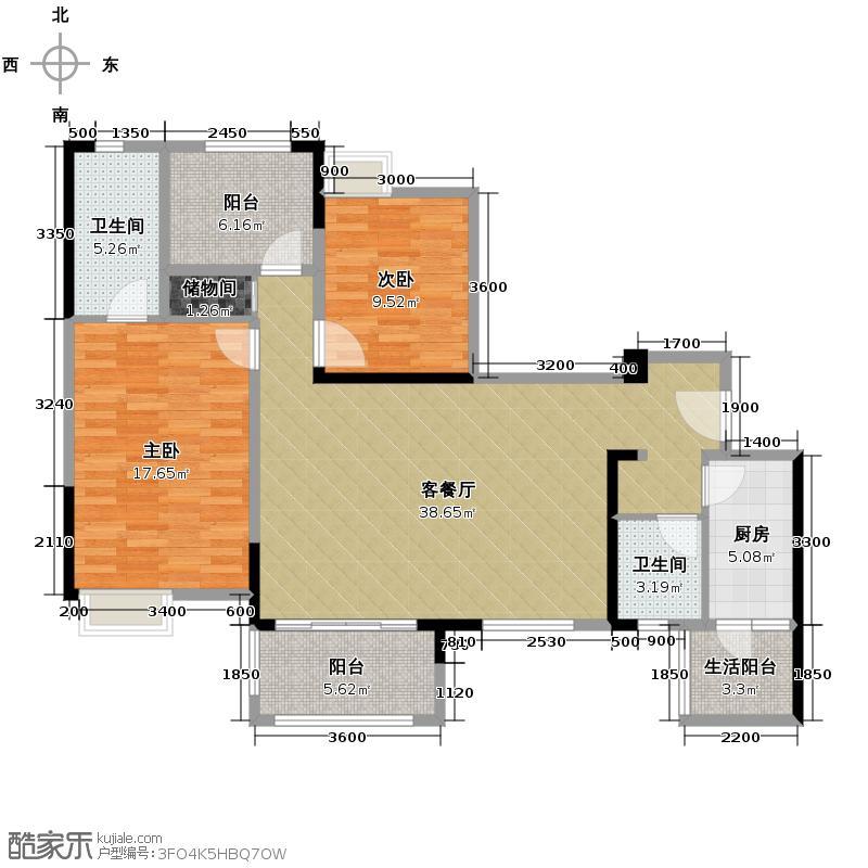 中国水电云立方107.71㎡户型10室