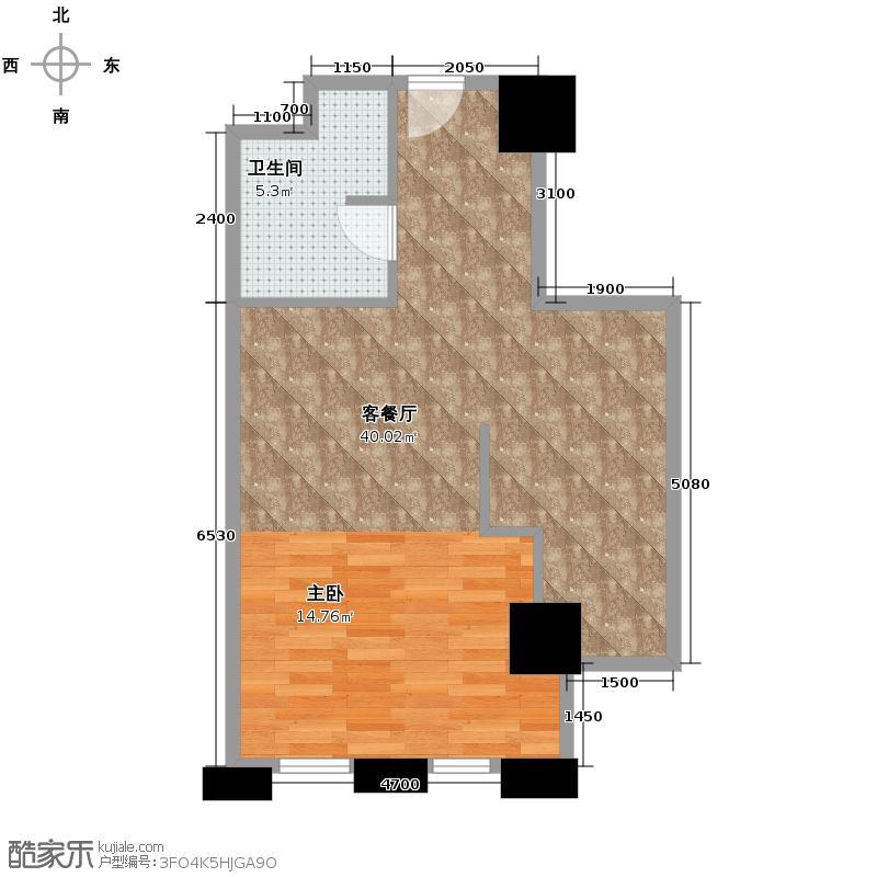 中国窗50.84㎡A户型10室