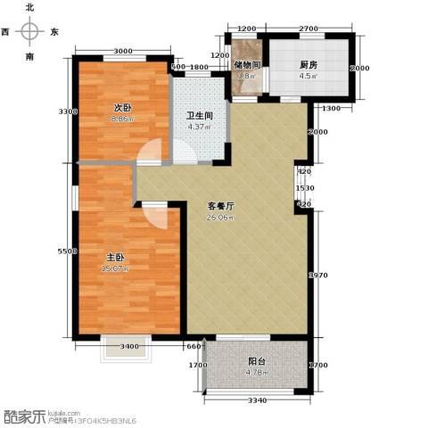 富兴御园2室2厅1卫0厨85.00㎡户型图