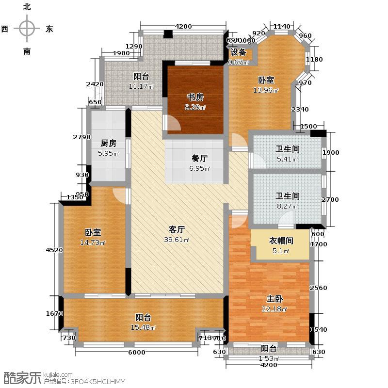 金科公园王府大户人家146.50㎡A2幢标准层5F户型4室2厅2卫