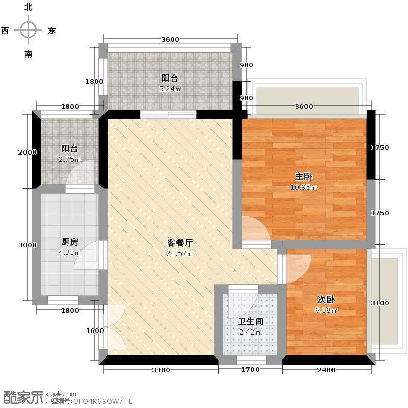 荣和中央公园63.00㎡户型10室