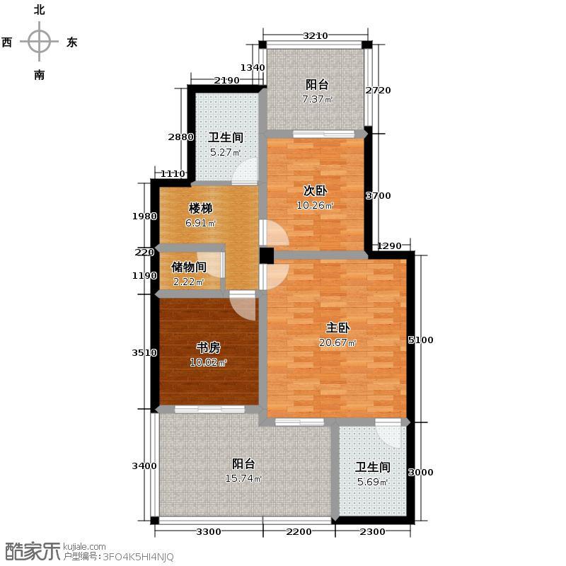 同景国际城97.37㎡D二层户型10室