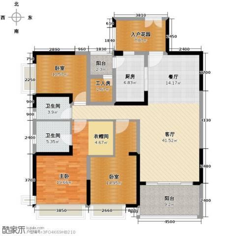 仁和春天国际花园4室2厅2卫0厨157.00㎡户型图