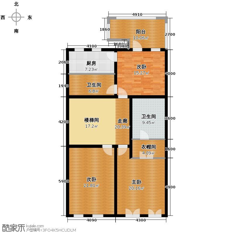 金科王府341.56㎡33-4二层户型10室