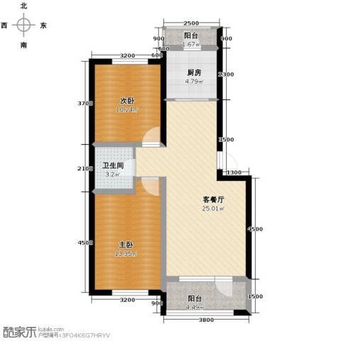 格林英郡2室1厅1卫1厨84.00㎡户型图