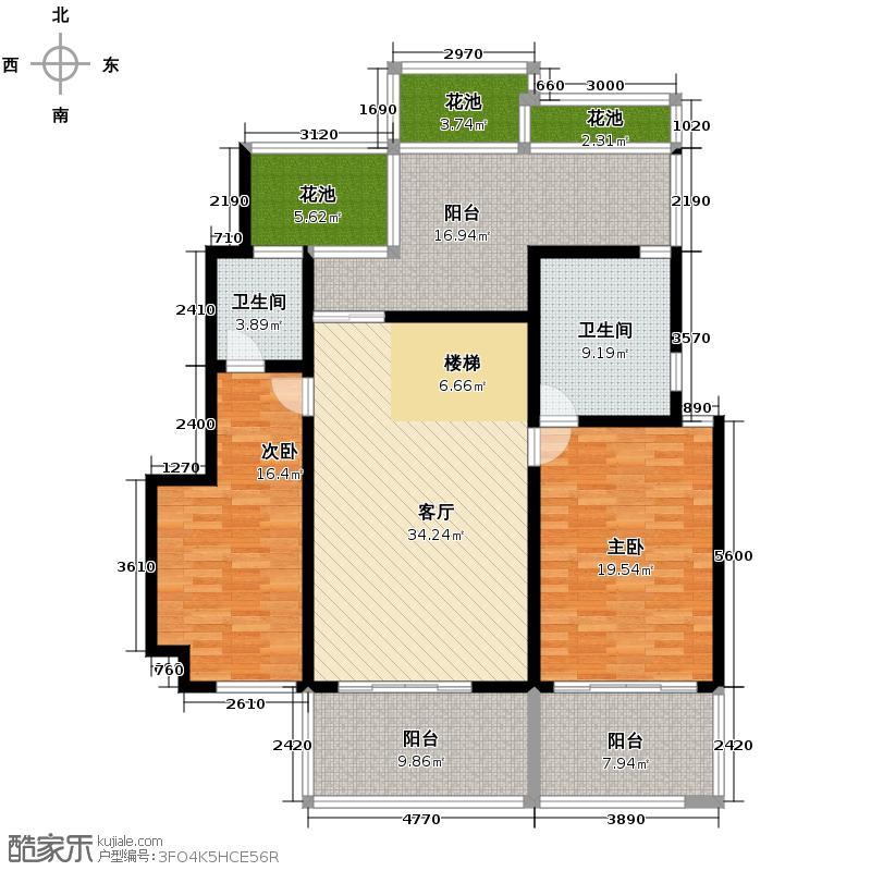 金科公园王府大户人家147.43㎡户型4室3厅4卫