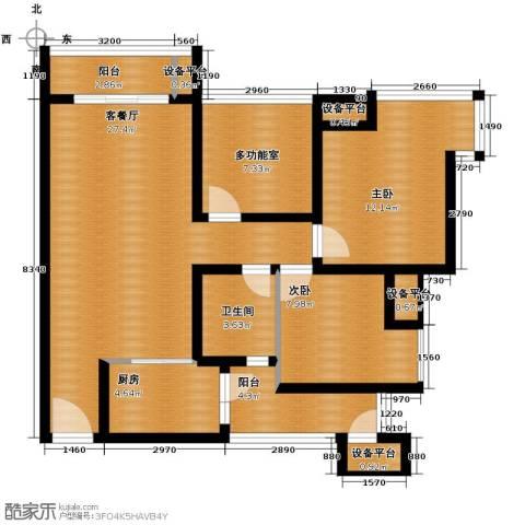 东原亲亲里2室1厅1卫1厨84.00㎡户型图