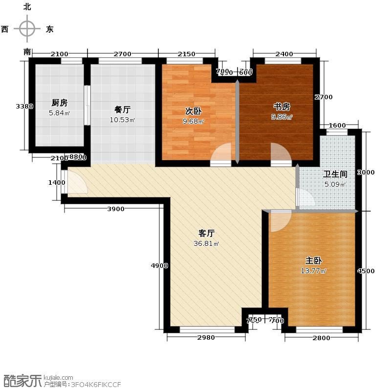 永定河孔雀城英国宫112.84㎡A4户型3室2厅1卫