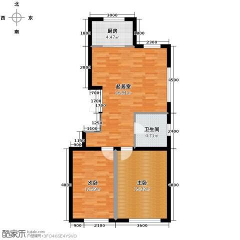 盛泰雅园2室0厅1卫1厨88.00㎡户型图