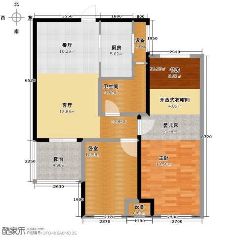 朗诗里程2室2厅1卫0厨89.00㎡户型图