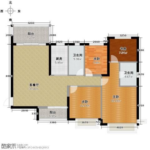 恒大御景湾4室2厅2卫0厨142.00㎡户型图