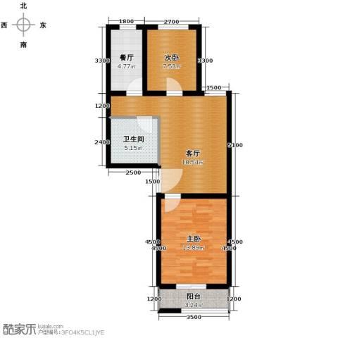 枫林逸景2室2厅1卫0厨77.00㎡户型图