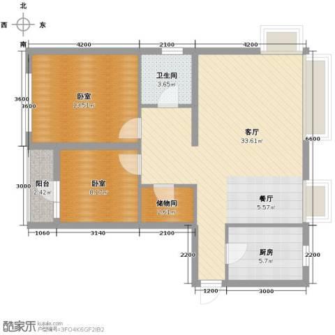 万科城峰汇1厅1卫1厨98.00㎡户型图