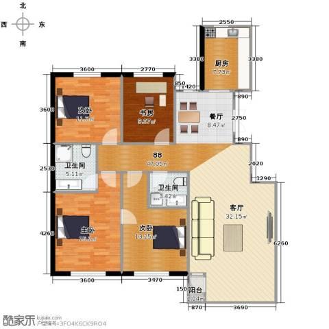 天和人家4室2厅2卫0厨146.00㎡户型图