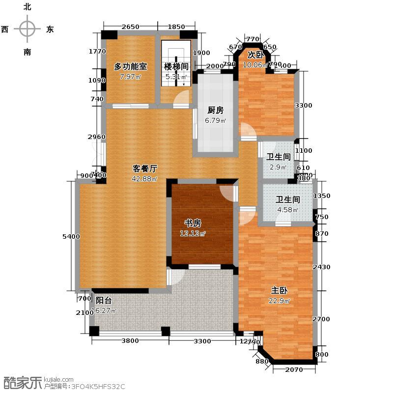 格林英郡151.58㎡35-1-户型3室1厅2卫1厨