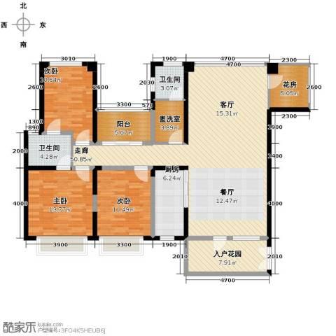 奥克斯广场3室0厅2卫1厨149.00㎡户型图