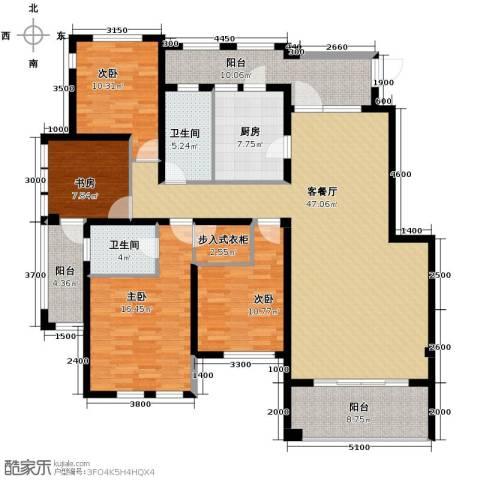 铂悦山4室2厅2卫0厨166.00㎡户型图