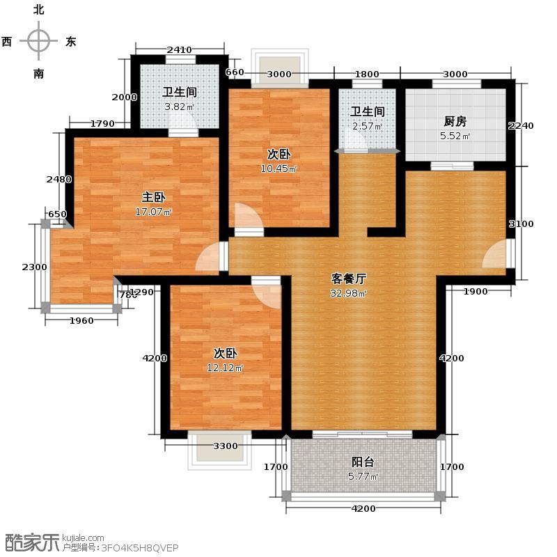 广厦水岸东方113.37㎡户型10室
