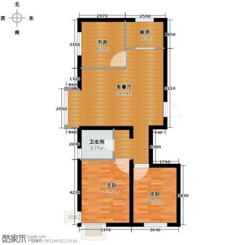瑞家景峰3室2厅1卫0厨105.00㎡户型图