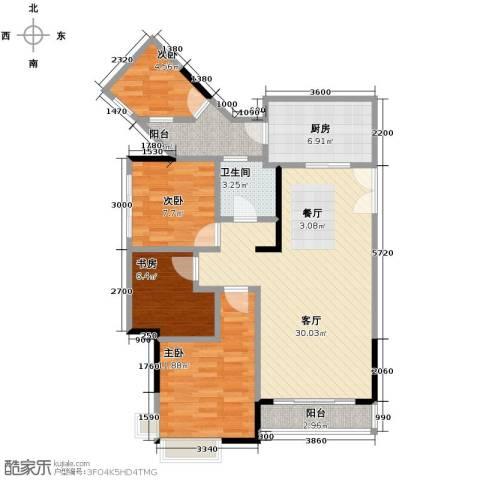 斌鑫中央国际公园2室2厅1卫0厨81.00㎡户型图