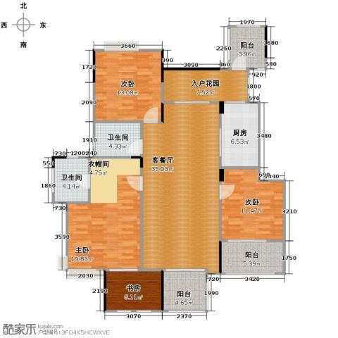 斌鑫中央国际公园3室2厅2卫0厨122.02㎡户型图