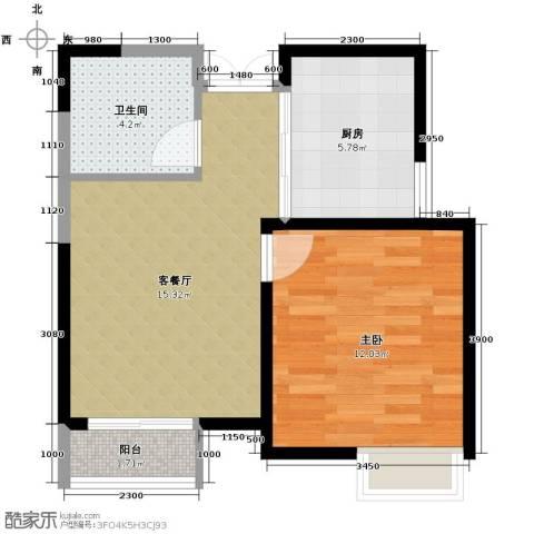 爱尚公寓56.00㎡户型图