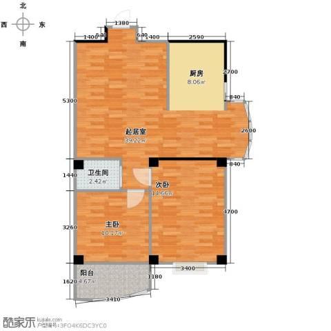 永利商住公寓2室0厅1卫0厨85.00㎡户型图