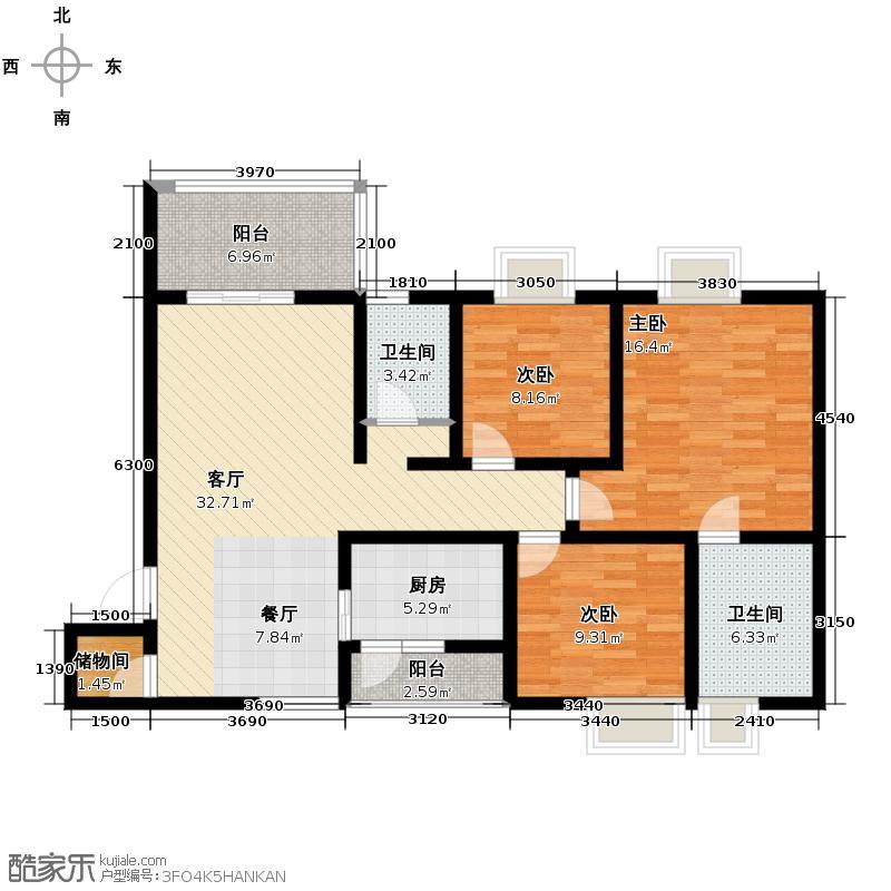 伊萨贝拉126.00㎡3-J2型户型10室