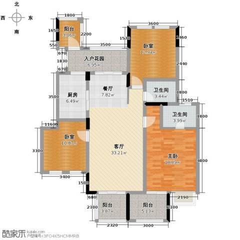 斌鑫中央国际公园3室2厅2卫0厨114.00㎡户型图