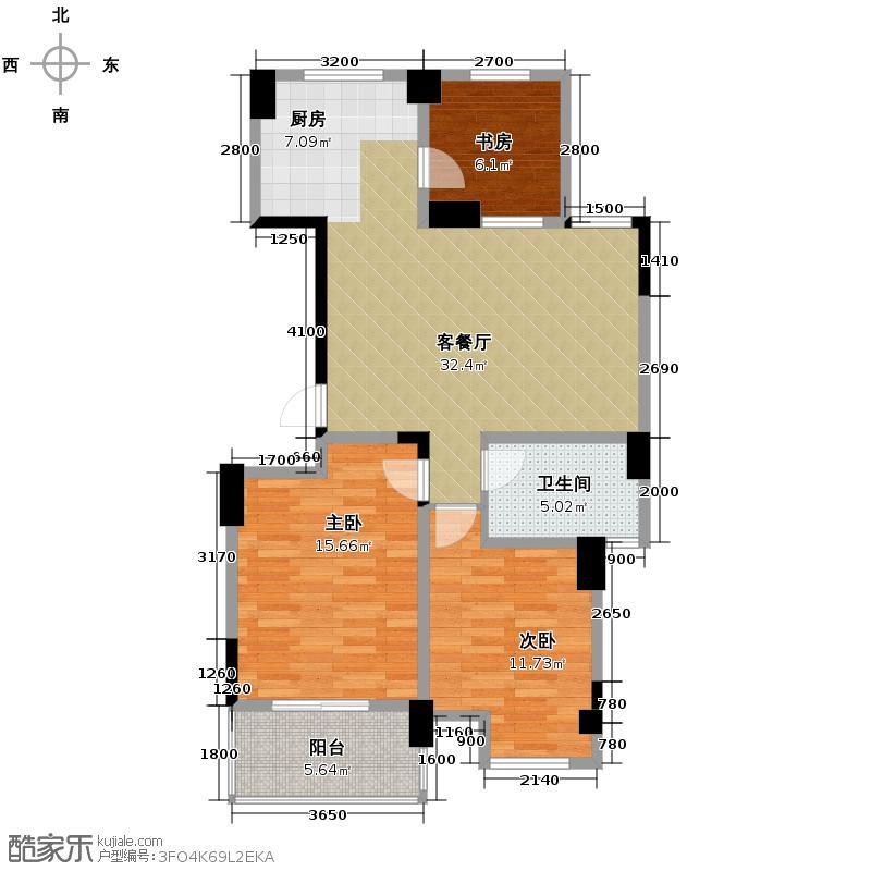 冠达豪景东苑104.15㎡D4户型3室2厅1卫