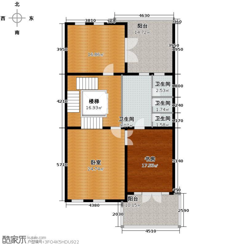 金科王府342.75㎡33-2三层户型10室