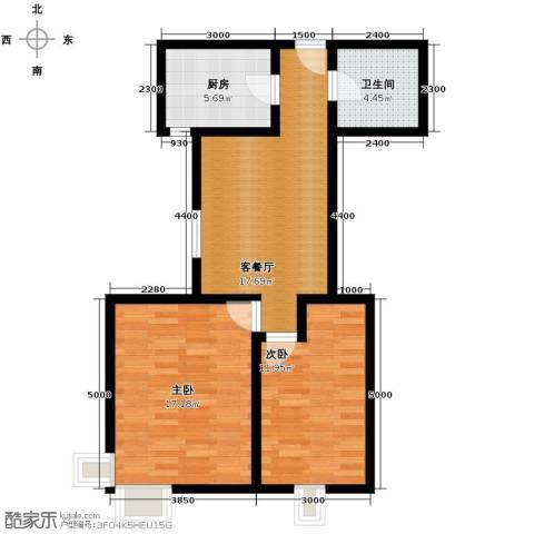海尚都2室2厅1卫0厨91.00㎡户型图
