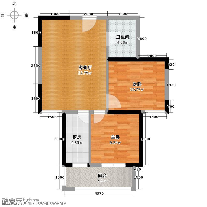 宏府�翔九天79.52㎡4/5/11/12号楼B2户型10室