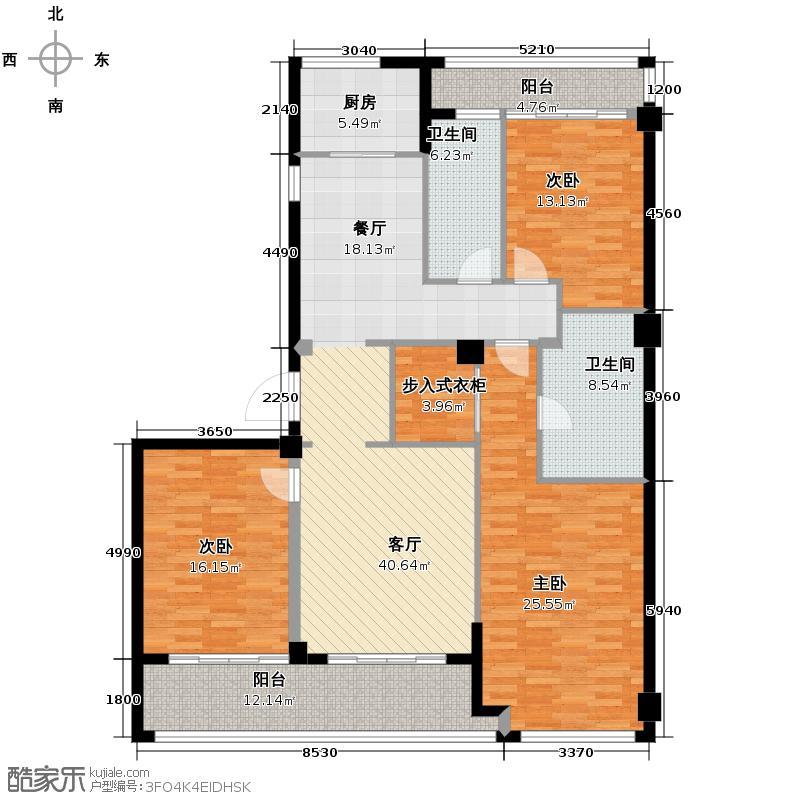 富春和园171.00㎡E户型3室1厅2卫1厨