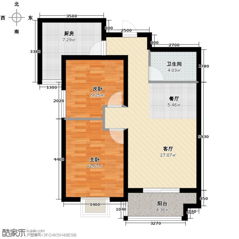 东景苑74.26㎡户型10室