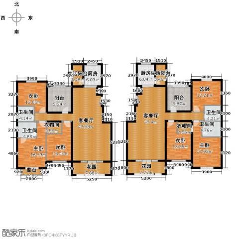 欧风小镇6室2厅4卫2厨260.79㎡户型图