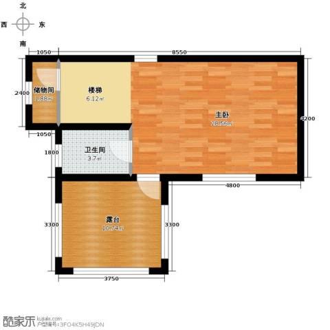 团泊湖庭院64.00㎡户型图