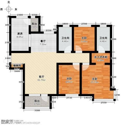 首玺3室2厅2卫0厨135.00㎡户型图
