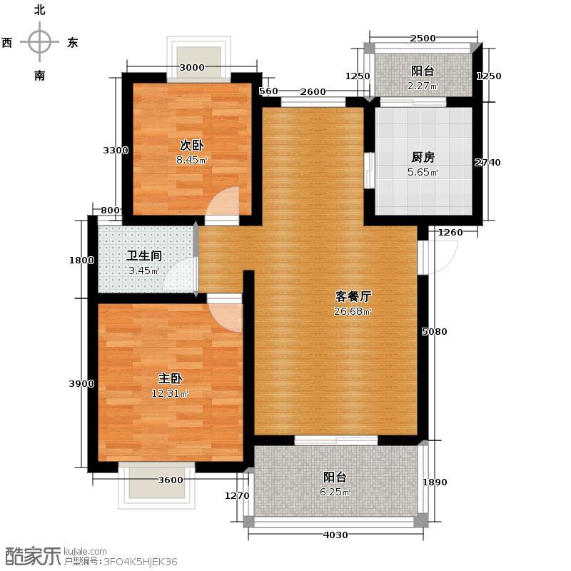 杜鹃城79.41㎡二期B标准层户型10室