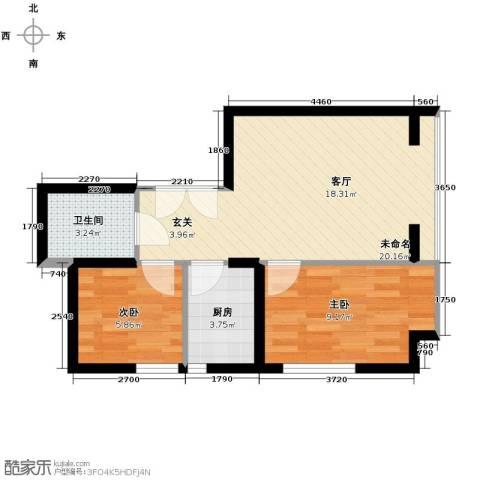 东北角艺术公寓72.00㎡户型图
