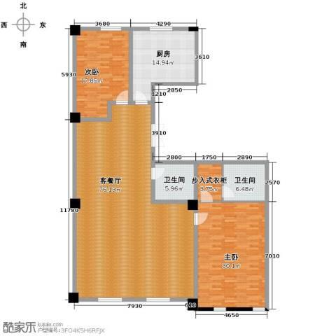 海河新天法桐墅2室2厅2卫0厨218.00㎡户型图