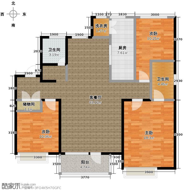 首玺147.01㎡C3户型3室2厅2卫