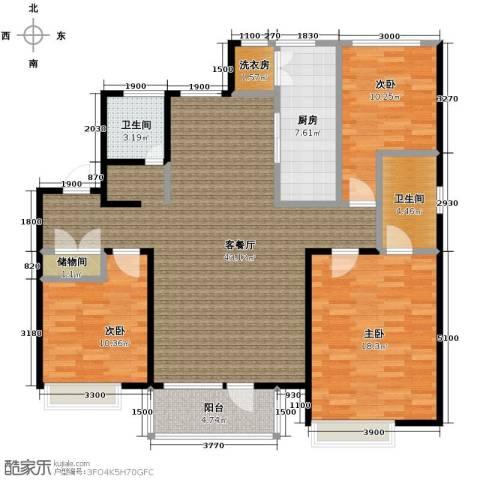 首玺3室2厅2卫0厨147.00㎡户型图