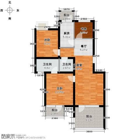 金厦・龙第世家94.00㎡户型图