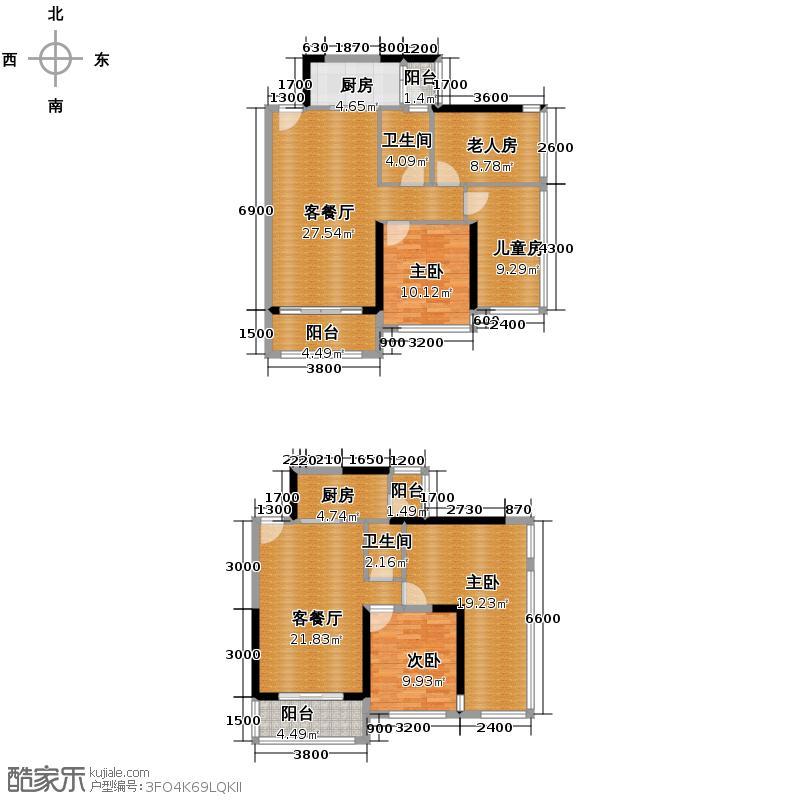 瀚林御景153.22㎡8栋2单元2+户型10室