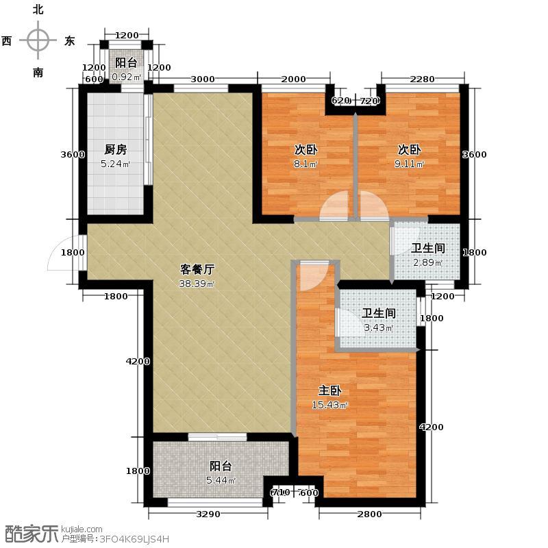 融侨城123.00㎡C2户型3室2厅2卫