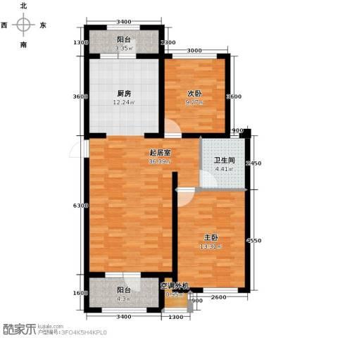 宝境栖园2室2厅1卫0厨93.00㎡户型图