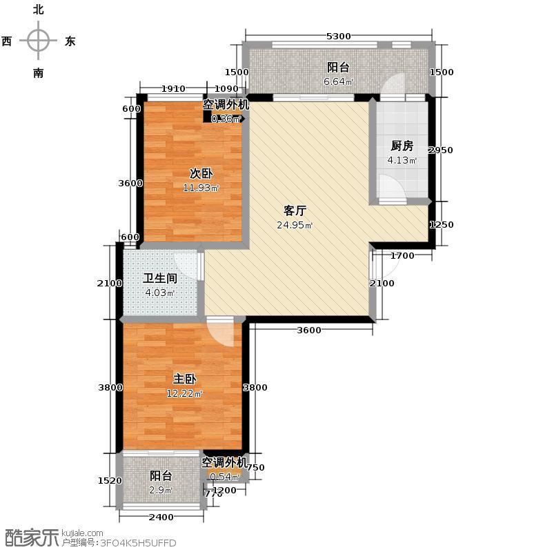 缤纷南郡85.30㎡在售d1a赠36米开间客厅坐北朝南户型10室