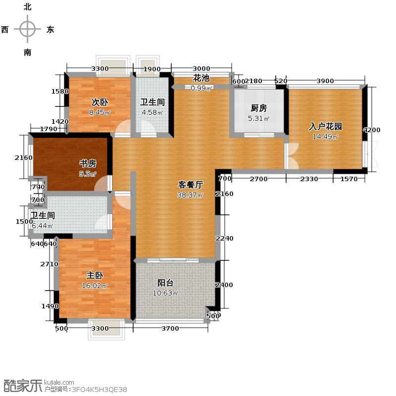 武夷滨江112.00㎡B户型10室